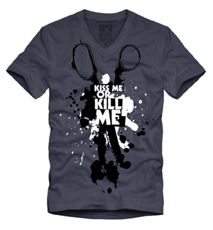 Playera Rock'n'love Hombre Kiss me or kill me